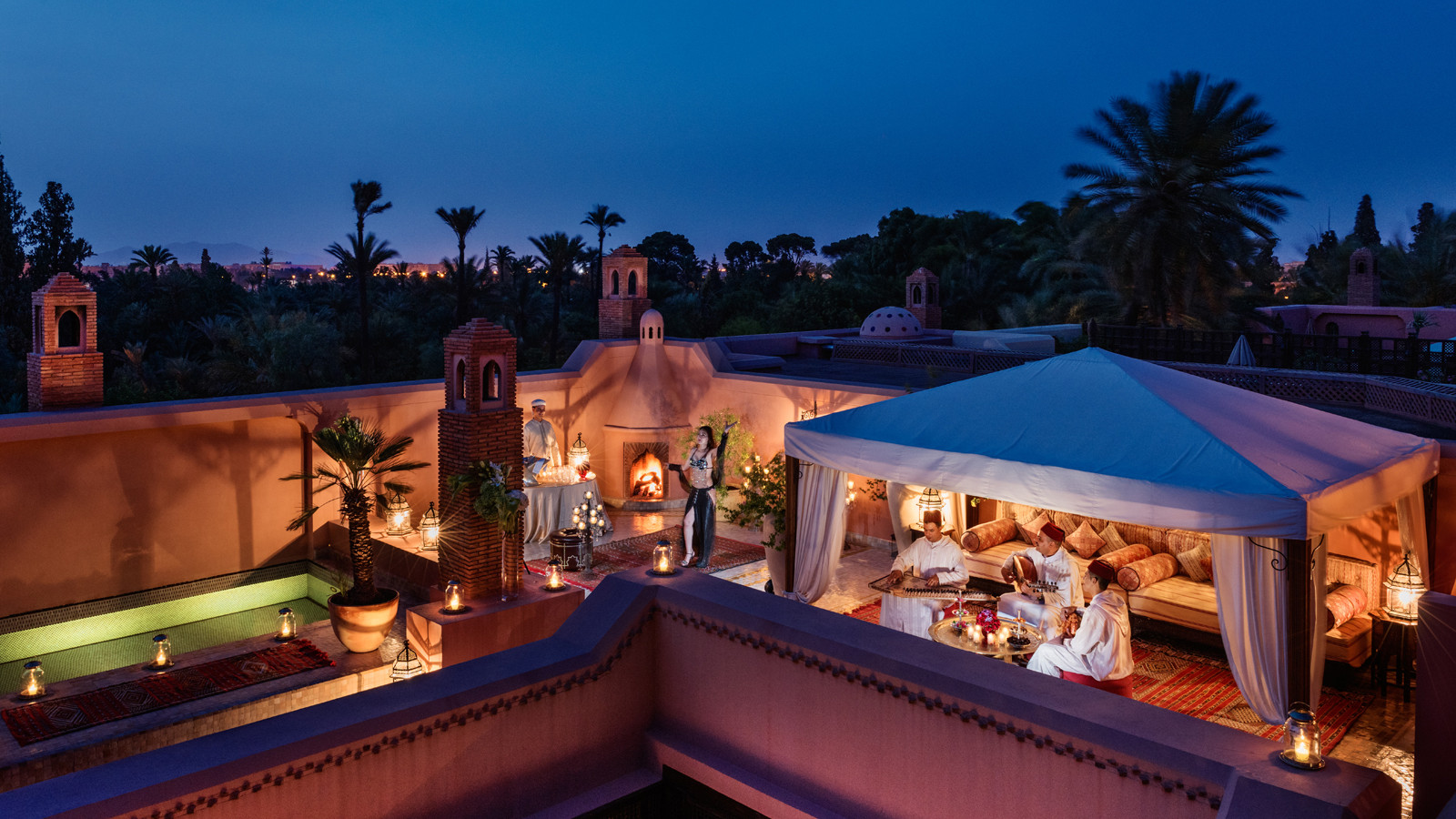royal mansour roof top