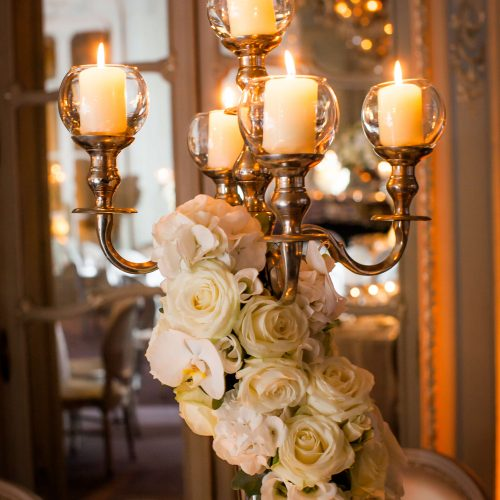 Aimee Dunne Weddings White Rose and Candles