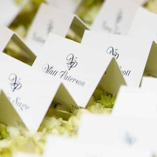 Aimee Dunne wedding table names