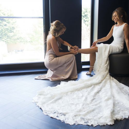 Wedding Bride Preparation Dress